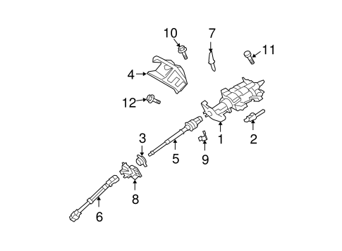 Steering Column Assembly For 2008 Ford Expedition Silver