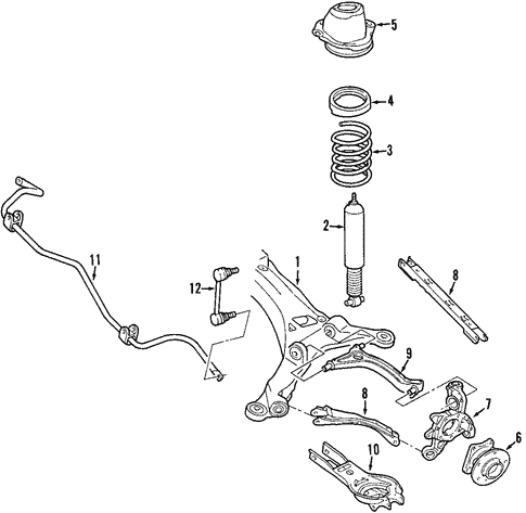 Rear Suspension/Rear Suspension for 2005 Ford Five Hundred #1