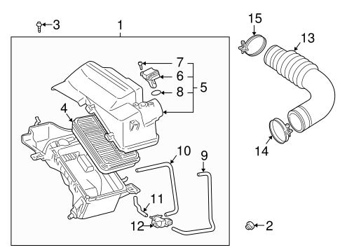 toyota celica engine diagram genuine oem air intake parts for 2000 toyota celica gts olathe 2003 toyota celica engine diagram parts for 2000 toyota celica gts