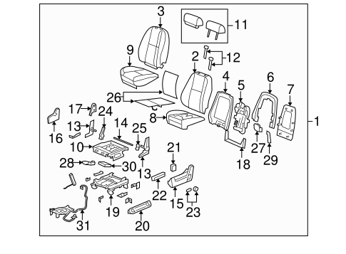 Front Seat Components For 2007 Cadillac Escalade Ext
