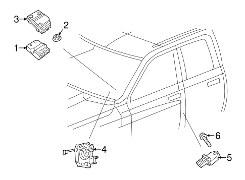 Air Bag Components For 2015 Ram 1500