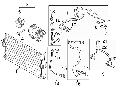 T6063957 Serpentine belt diagram moreover Ford Pinto Ignition Wiring Diagram also Engine vehicles with 4 Speed automatic transmission  4f27e in addition Ford Accumulator Cv6z19c836f besides Hvac Condenser Service Valve. on ford focus condenser