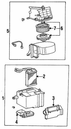 Toyota 87134-30050 Heater Blower Fan Sub Assembly