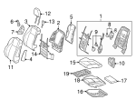Headrest Guide - Mercedes-Benz (00097008418r73)