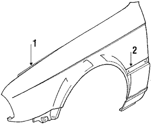 Side Molding - BMW (51-13-1-953-928)
