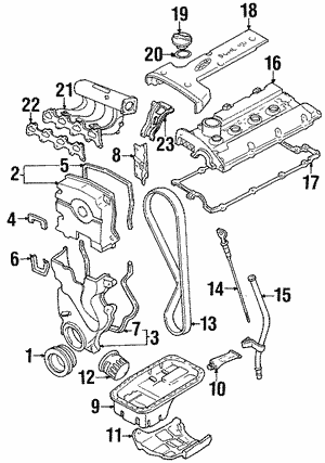 Genuine Hyundai 21364-39001 Timing Belt Cover Gasket