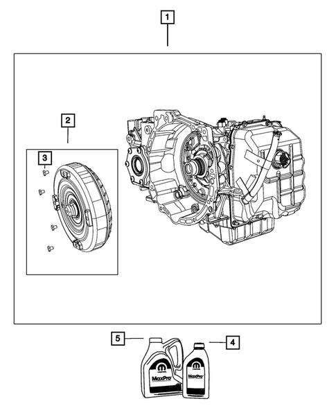 Automatic Transmission    Transaxle And Torque Converter For 2019 Dodge Grand Caravan