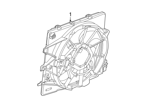 Cooling Fan For 2019 Cadillac Cts