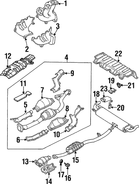 Exhaust Components For 1992 Subaru Svx