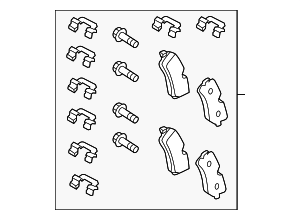 Brake Pads - Land-Rover (LR106326)