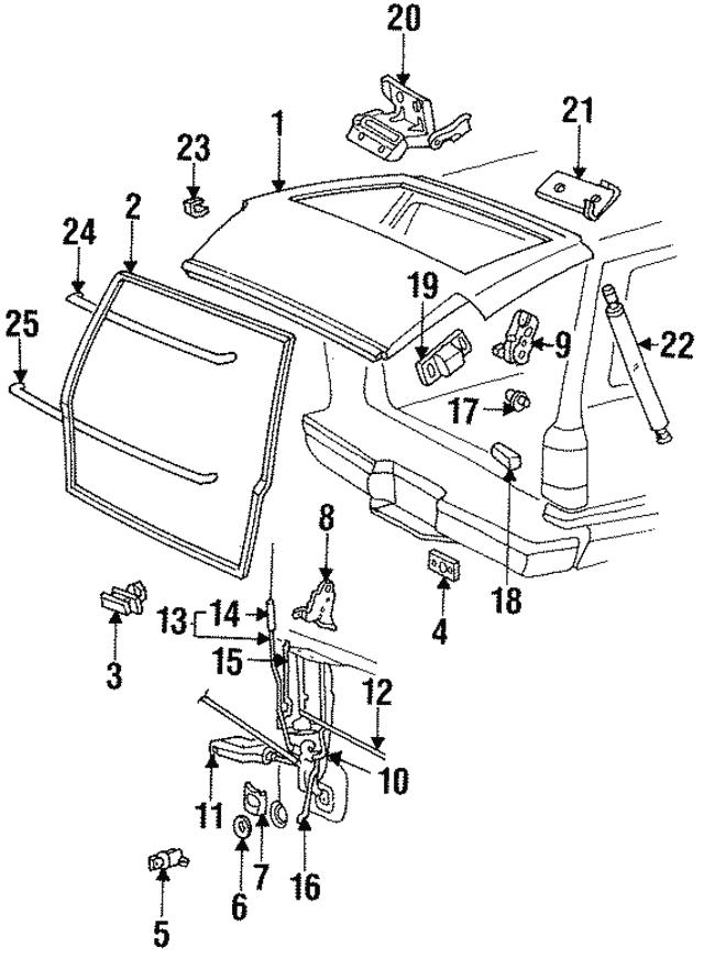1991 2001 Ford Lock Actuator 2l5z 35218a42 Ba
