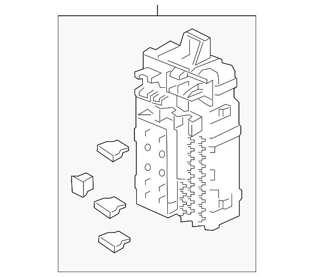Genuine Honda 38200-SNF-A04 Fuse Box Assembly