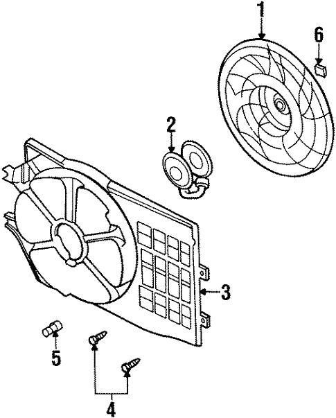 Cooling Fan For 1999 Chrysler Sebring