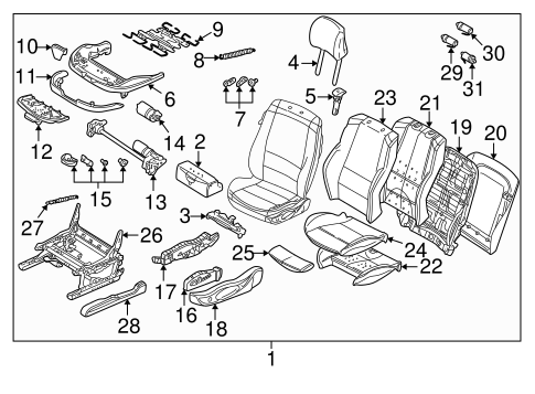 Front Seat Components For 2001 Bmw 325i