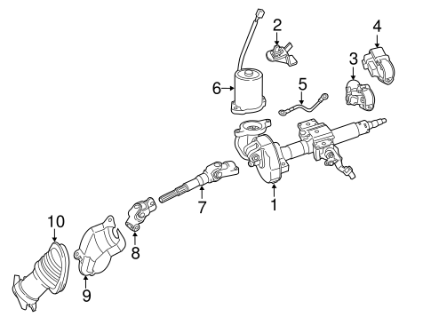 STEERING/STEERING COLUMN ASSEMBLY for 2015 Toyota Prius C #1