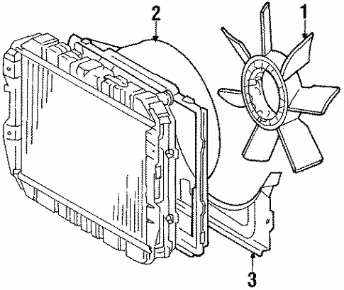 Cooling Fan For 1984 Toyota Pickup