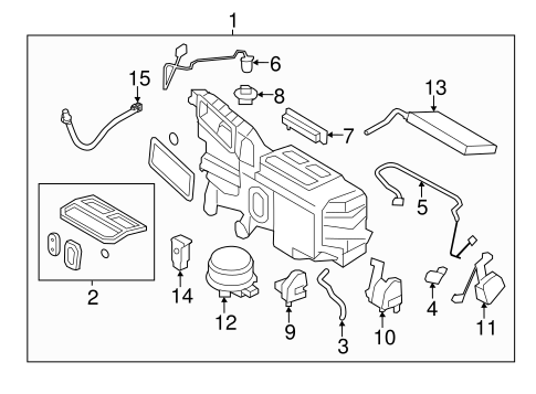 HVAC/Evaporator Components for 2013 Ford Edge #1
