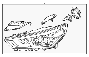Headlamp Assembly - Hyundai (92101-G7050-MBL)