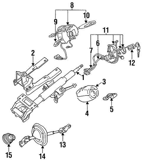 Steering Column Assembly For 1996 Dodge Stealth