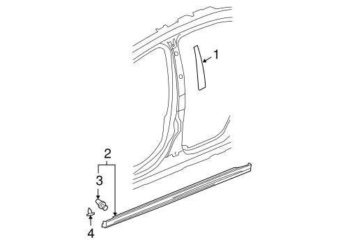 Exterior Trim - Pillars for 2006 Chevrolet Malibu #0