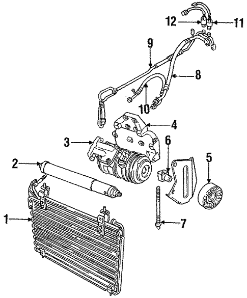 Condenser Compressor Lines For 1996 Jaguar Xjr