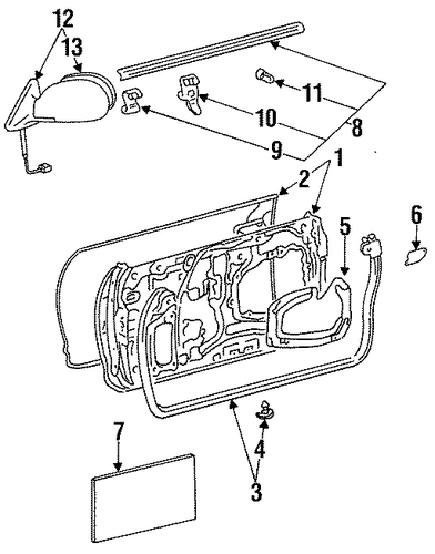 BODY/DOOR & COMPONENTS for 1998 Toyota Celica #1
