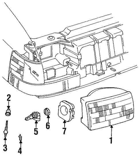 Headlamp Components For 1996 Jeep Grand Cherokee