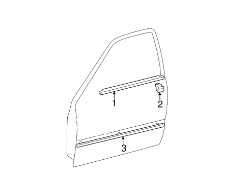 BODY/EXTERIOR TRIM - FRONT DOOR for 2005 Toyota Camry #1