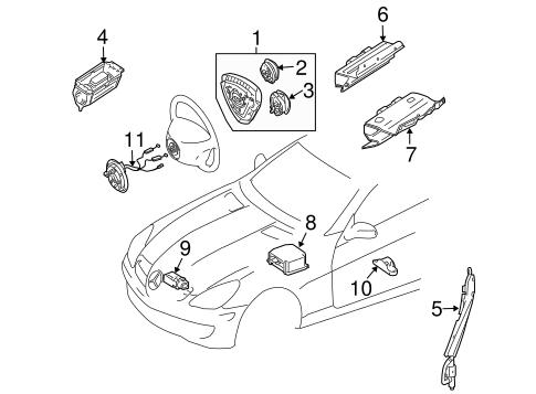 Air Bag Components For 2005 Mercedes Benz Slk 55 Amg