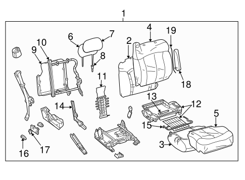 Front Seat Components For 2000 Gmc Yukon Xl 2500 Slt