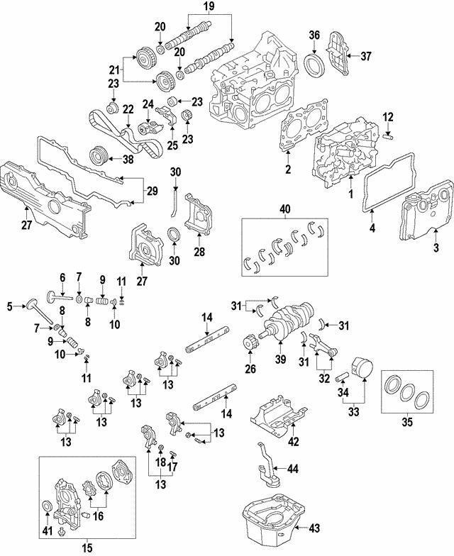 2012 2019 Subaru Timing Chain 13143aa110