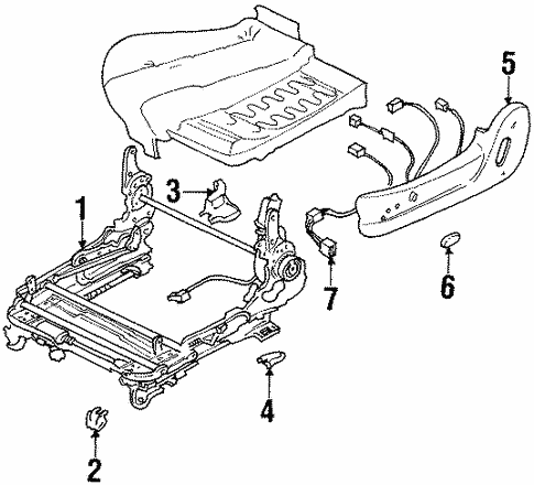 Tracks Components For 1996 Subaru Svx