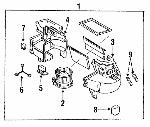 Mazda D061-61-B15 HVAC Blower Motor Resistor
