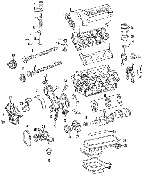 Engine for 1992 Mercedes-Benz 400 E #0