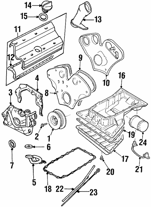 Oem 2000 Cadillac Catera Engine Parts Parts