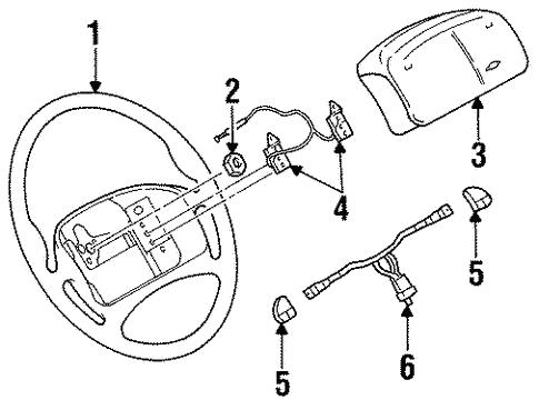 Oem 1996 Chevrolet Monte Carlo Steering Wheel Trim Parts