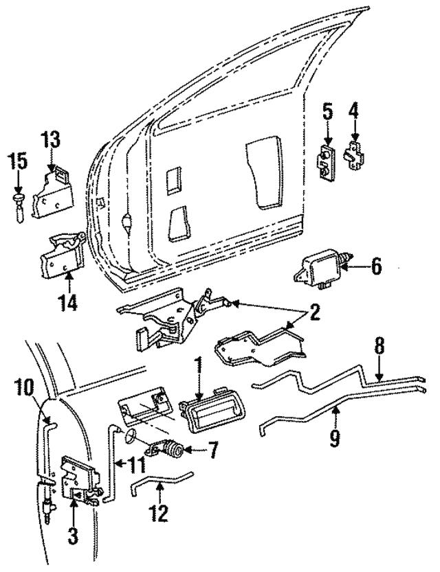 1990 1997 Gm Lock Actuator 22100852
