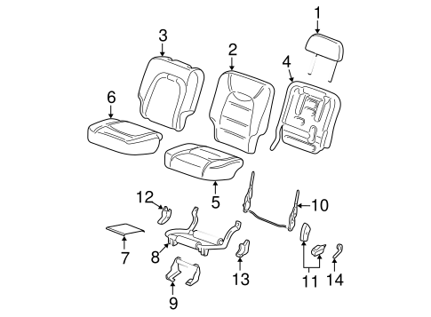 Body/Rear Seat Components for 2003 Ford Explorer #2