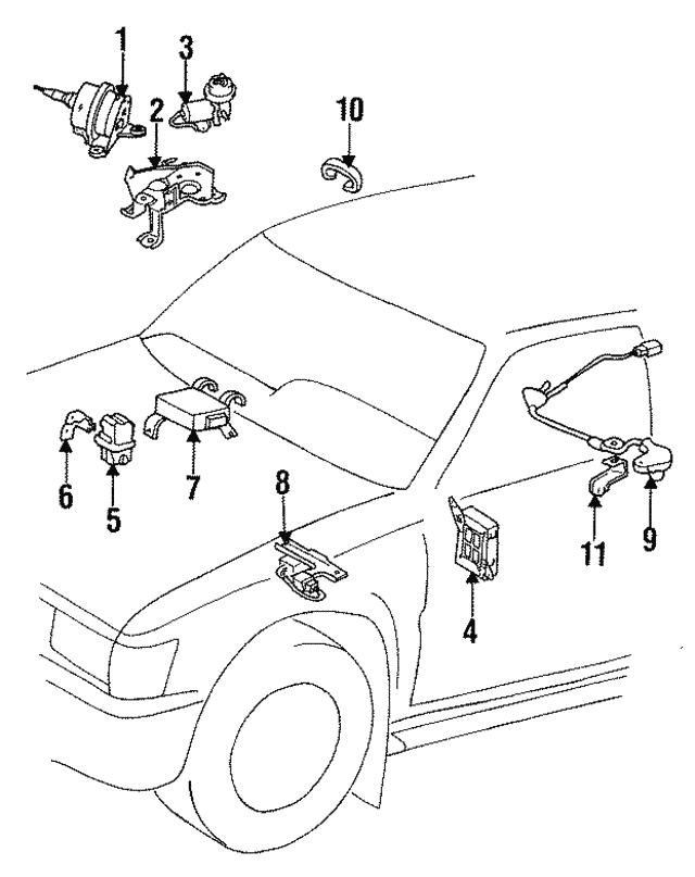 1990 1995 Toyota Relay Bracket 85999 35010