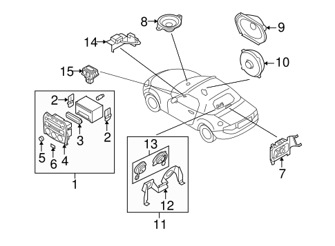 Genuine OEM Sound System Parts For 2008 Mazda MX-5 Miata Grand
