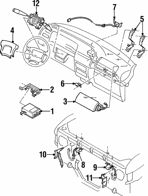 Air Bag Components for 1995 Isuzu Trooper #0