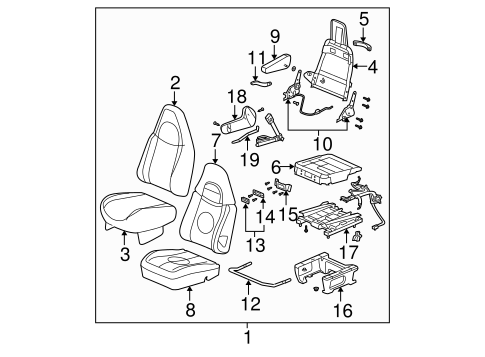 Front Seat Components for 2018 Chevrolet Express 2500 #0