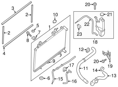 radiator  u0026 components for 2014 nissan pathfinder