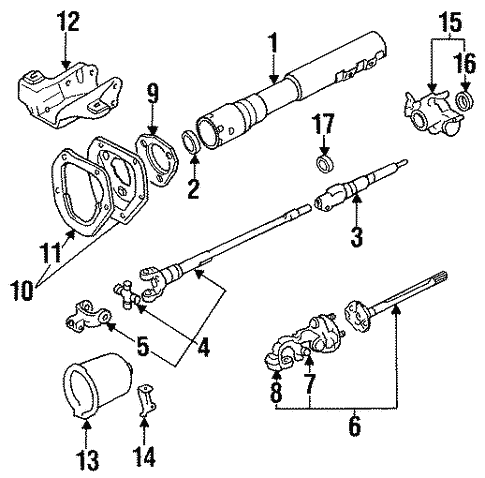 Genuine Oem Steering Column Assembly Parts For 1987 Toyota Pickup