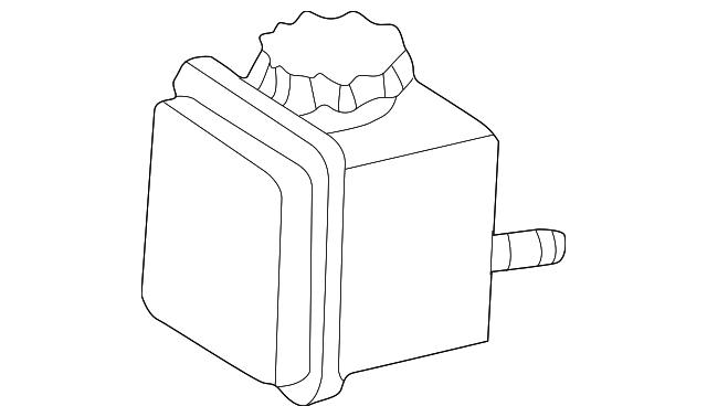 genuine power steering pump reservoir 000
