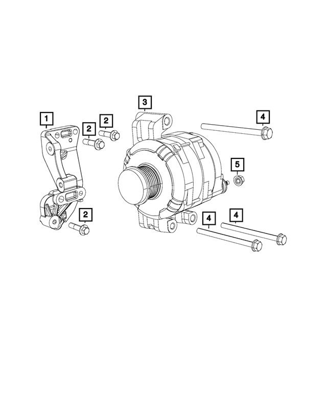 Alternator - Mopar (68324893AA)