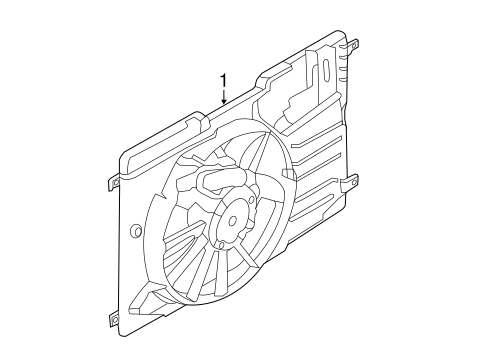 Cooling System/Cooling Fan for 2013 Ford Escape #1