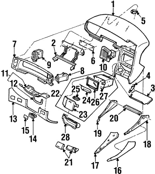 1992 1997 Subaru Svx Inner Cover 66051pa050