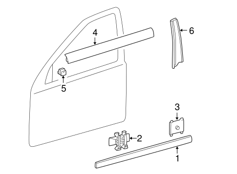 Exterior Trim - Front Door for 2001 Mercedes-Benz C 240 #0