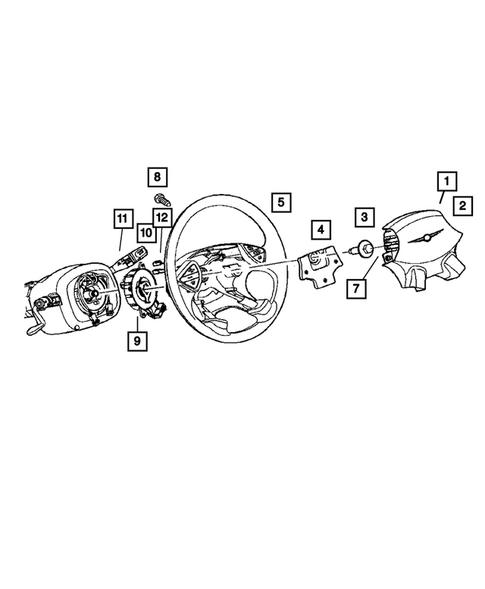 Air Bag Clockspring Mopar 56044805AC